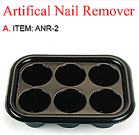 Pack of 3 x Rectangular Shaped Plastic Manicure Nail Soaker Trays-Black