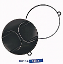 R507A-UFO Professional Tools-Large Round Mirror with Handle in Black