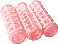Plastic Hair Rollers - Small Pink Length 68mm x Dia 20mm (Pack of 16)