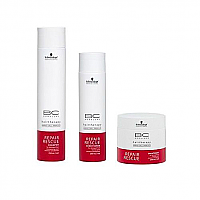 Schwarzkopf Bonacure Repair Shampoo 250ml, Conditioner 200ml & Treatment 200ml