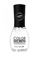 Color Secrets Nail Polish 15ml-Pure Vegan Nail Polish-DBP, Toulene & Formaldehyde Free-N100-Snow White