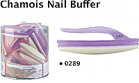 Luxor Professional Ergonomic Chamois Nail Buffer in Assorted Frosted Colours