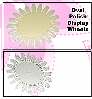 Nail Polish Display Wheel - Oval