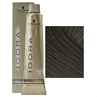 SCHWARZKOPF PROFESSIONAL IGORA ROYAL HAIR COLOR 4-07 Medium Brown Natural Copper 60mL