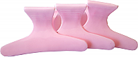 "Solid Baby Pink Plastic Butterfly Clips Large (3"") Packet of 12"