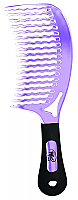 Wet Detangling Comb-New Curved Design-Purple