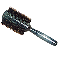 Brushworx Natural Woodgrain Boar Bristle Radial Hair Brush - Large