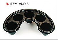Crescent Shaped Plastic Manicure Soaker Tray - Black