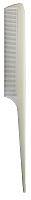 Stylers Tail Comb in Solid Colours-White