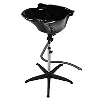 Portable Back Wash Basin Deep Sink Black - Just $104.95 -Tilt and Height Adjustable