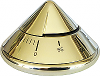 Salon Timer Conical 60 Minute Dial Timer Metallic Silver