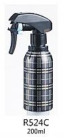 Salon Water Sprayer Aluminium Cylindrical Bottle with Heavy Duty Ratchet Sprayer
