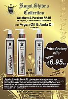 Royal Shivas Argan & Amla Oil Shampoo-Sulphate & Paraben Free-300ml