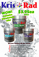 Kris & Rad Hair Gel-500g-Firm Hold