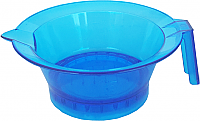 Pack of 3 Plastic Tint Bowls Translucent Blue with Rubber Grip Base