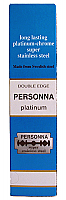 Personna Long Lasting Platinum-Chrome Super Stainless Steel Double Edge Razor Blades-20x Pack of 5 Blades (Box of 100 Blades)