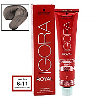 SCHWARZKOPF PROFESSIONAL IGORA ROYAL HAIR COLOR 8-11 LIGHT BLONDE CENDRE EXTRA 60g