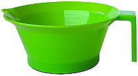 Plastic Tint Bowl Solid Fluoro Green Colour 250ml