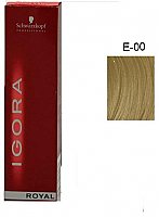 SCHWARZKOPF PROFESSIONAL IGORA ROYAL HAIR COLOR E-00 Lightening Extract 60mL