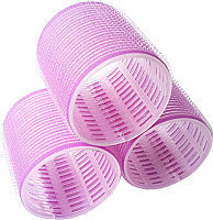 Velcro Hair Rollers 6 per pack-Purple-Large-60mm Length x 58mm Dia