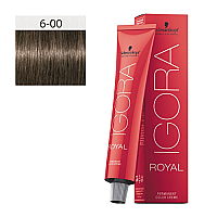 SCHWARZKOPF PROFESSIONAL IGORA ROYAL HAIR COLOR 6-00 Dark Blonde Natural Extra 60g