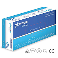 GloveOn Innova Latex Powder Free Examination Gloves Small 100Pk