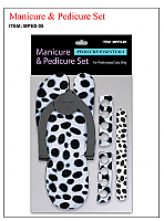 Heavy Duty Pedicure Slipper Set with Nail Buffers and Toe Separators Leopard Print-Price Per Pack