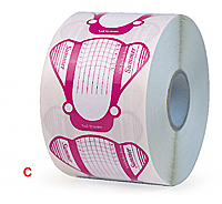 Pink Frog Transparent Nail Forms on a Roll