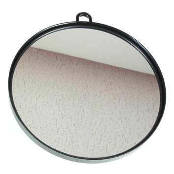 Round Black-large mirror with handle
