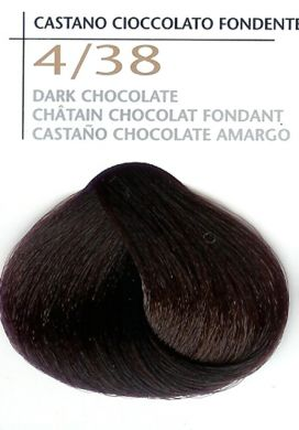 4/38 Dark Chocolate-Colorianne Prestige Dermatologically Tested Top of The Range Professional Italian Hair Colour in 100g tube