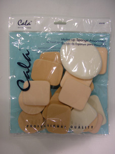 Make Up Sponges-Hair & Beauty 42g Assorted Make-up Sponges in a Header Poly bag