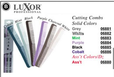 6880-Luxor Designer Cutting Combs in Solid Colours