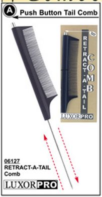 Luxor Retractable Metal Tail Comb