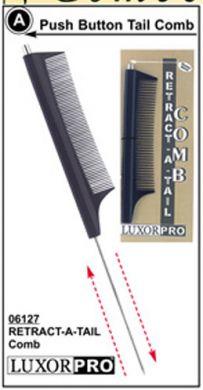 Luxor Retractable Metal Tail Comb