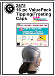 SC2475-LuxorPro 16 pc Value Pack Tipping/Frosting Caps with 2 Streaking hooks