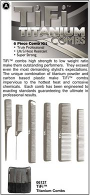 06137-TiFi Titanium Combs-6 Piece Comb Kit