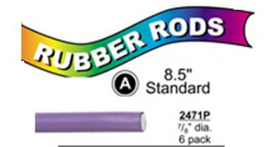 "2471P Standard Flex Rods 7/8"" Diam x 8.5"" long- Purple-6/pk"