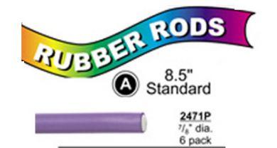"2471P Standard Flex Rods 7/8"" Diam x 8.5"" long- Purple-6/pk"