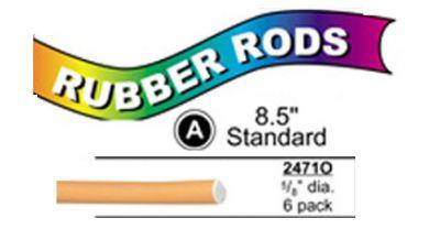 "2471O Standard Flex Rods 5/8"" Diam x 8.5"" long- Orange-6/pk"