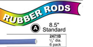 "2471B Standard Flex Rods 1/2"" Diam x 8.5"" long- Blue-6/pk"