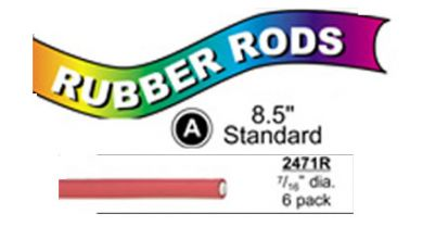 "2471R Standard Flex Rods 7/16"" Diam x 8.5"" long- Red-6/pk"