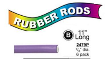 """2479P X-Long Flex Rods 7/8"""" Diam x11"""" long- Blue Purple-6/pk"""