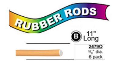 """2479O X-Long Flex Rods 5/8"""" Diam x11"""" long- Blue Orange-6/pk"""
