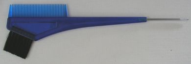 TB2-Tint Brush with Metal Tail Comb 2 in 1- Blue