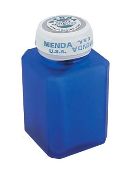 4025H Menda Stainless Steel  Liquid Dispenser-4Oz Frosted Blue Bottle