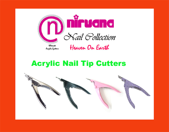 Nirvana Collection High Quality Stainless Steel ACRYLIC NAIL TIP CUTTER Black