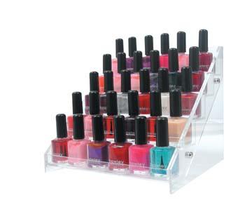 4027 Acrylic Nail Counter Polish Display (Holds 35 Units)
