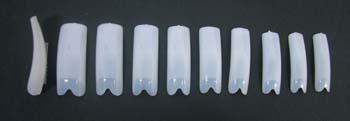 6004-Hawley V-Cut Nail Tips 100/Tray