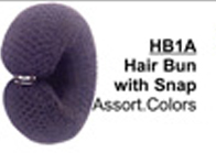 Hair Bun with Snap in Assorted Colours