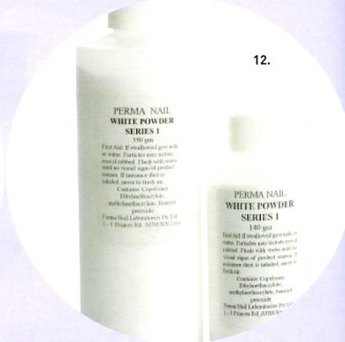 Perma Acrylic Powder Series 1-White-140g